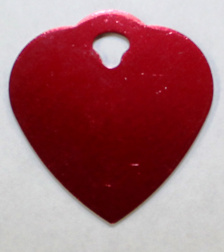 Small Red Heart ID Tag
